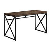 """Computer Desk, 48""""L/Brown Reclaimed Wood/Black Metal"""