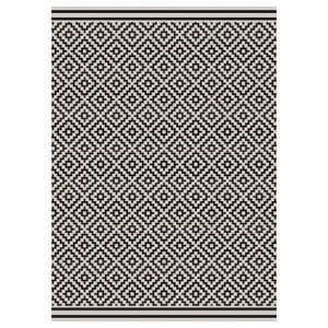 Patio Rectangular Rug, Dark Grey, 160x230 cm