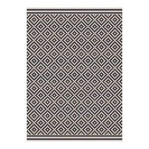 Patio Rectangular Rug, Dark Grey, 120x170 cm