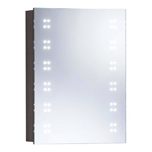 Wire Free Mirror Cabinet With Sensor Switch and LED Lights, Simple Modern Design