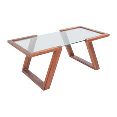 vidaXL Solid Acacia Wood Coffee Table, Brown, 100x50x40 cm
