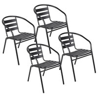 Aluminum Dining Chairs, Set of 4