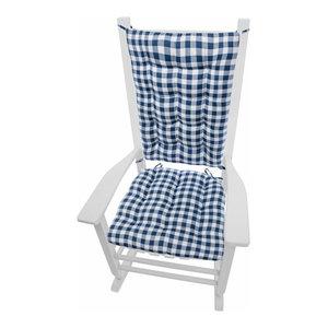 Checkers Red Tan Checkered Rocking Chair Cushions Latex Foam Fill