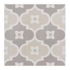 "SomerTile 7.88""x7.88"" Caprice Porcelain Floor and Wall Tile, Bowtie, Pastel"