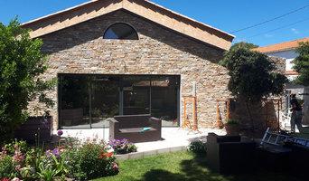 Rénovation d'une façade en pierres de parement