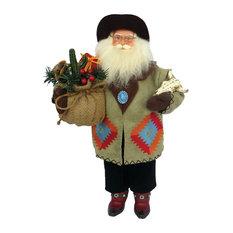 "Santa's Workshop, Inc - 18"" Southwestern Santa - Holiday Accents and Figurines"