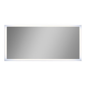Round Oval Bathroom Wall Mirror With Beveled Edge And