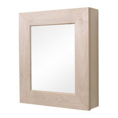 Wall Mount Mirrored Medicine Cabinet, Unfinished Flat Frame