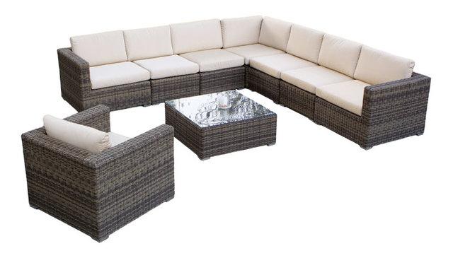 Sydney 9 Piece Outdoor Sectional Sofa Set