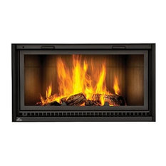NZ7000 Linear Wood Burning Fireplace With Fluted Brick Kit