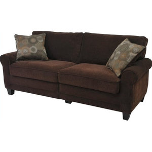 Astounding U3613 Chocolate Microfiber Bonded Leather Sectional Sofa Gmtry Best Dining Table And Chair Ideas Images Gmtryco