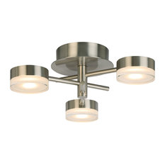3-Light, 18W Integrated LED Ceiling Light, Brushed Nickel
