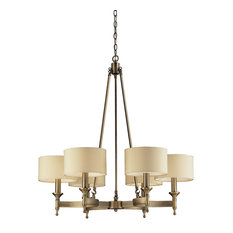 Pembroke 6 Light Chandelier In Brushed Antique Brass