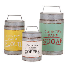 Imax Worldwide Home Dairy Barn Decorative Lidded Containers 3 Piece Set Kitchen
