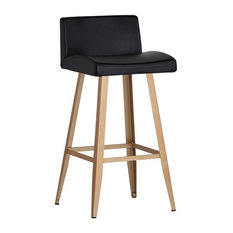 Absolon Counter Stool - Gold - Antique Black