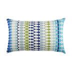 Elaine Smith Modern Oval Ocean Lumbar Pillow