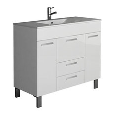 "Eviva Venus 36"" White Bathroom Vanity With Sink"
