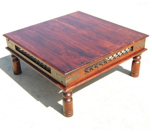 ... Rustic Wood Square Iron Lattice Work Sofa Coffee Table Coffee Tables ...