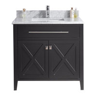 Wimbledon Single Vanity, Espresso, 36""
