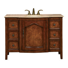 "48"" Antique Two-Tone Single Sink Vanity"