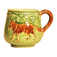 Barbotine Wolf Mug