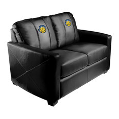 Memphis Grizzlies NBA Silver Love Seat With Secondary Logo Panel