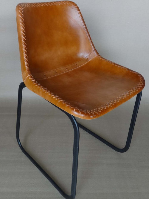 Industrial Leather Chairs And Bar Chair