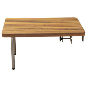 Plantation Teak Ada Wall Mounted Shower Bench With Legs