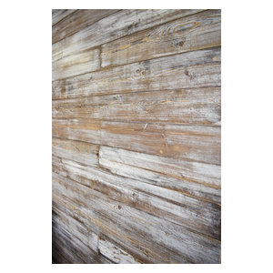 Shiplap Wall, Weathered White/Brown, 72