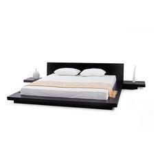 Matisse Co   Fujian Modern Queen Platform Bed With 2 Night Stands, 3 Piece
