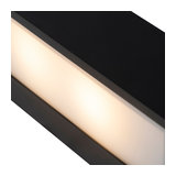 Modern Sleek Wall Lamp 25cm Black - Houx