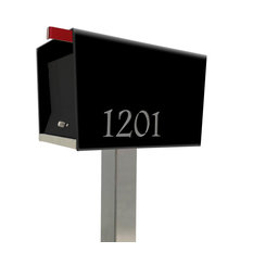 Modern Contemporary Retro Design , the UpTownBox Locking Pole mounted Mailbox, B