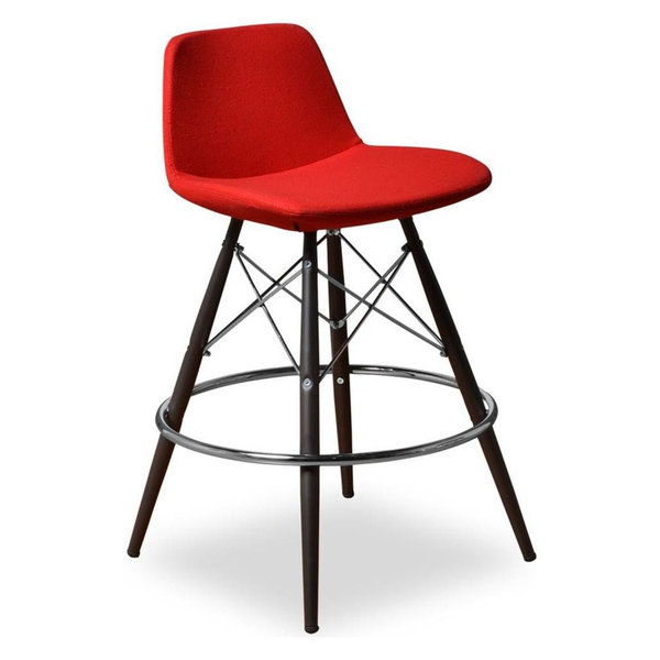 Counter Stool, Red, Set of 2