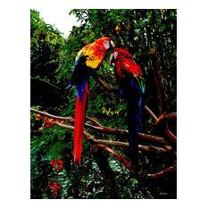 """Love Birds"" by Paul Laoria, Giclee Canvas Wall Art, 24""x32"""