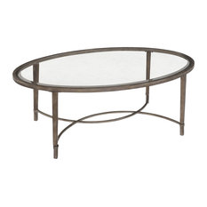 magnussen home furnishings magnussen home furnishings t2114 copia brushed metal oval cocktail table coffee