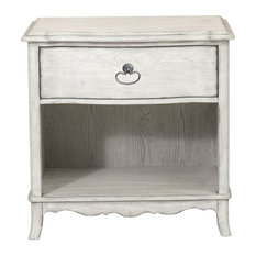 Home Fare Beachcomber 1 Drawer Nightstand In Driftwood White
