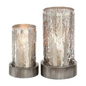 Aurora 2-Piece Metal Candleholder Set