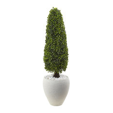 Artificial Tree -Boxwood Topiary Tree With White Planter