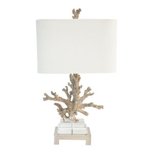 """Silver Coral Table Lamp, 25.5""""H"""
