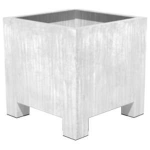 Adezz Galvanized Steel Planter, Vadim Cube, 80x80x80cm