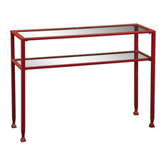 Metal Sofa Table - Red