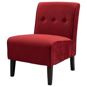 Gdf Studio Dusoleil Velvet Modern Armless Chair