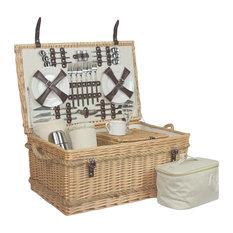 Premium 6-Person Fully Fitted Picnic Basket
