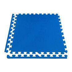 "24""x24"" Eco-Soft+ Interlocking Foam Tiles, Set of 26, Blue"