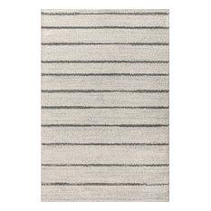 Williamsburg Minimalist Stripe Cream/Gray 8' x 10' Area Rug