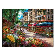 Tile Mural, Paris Flower Market by Sam Park/Soho Editions