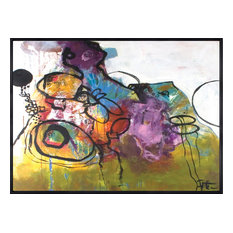 """Contemporary Hand Painted Canvas Art, Large-B- Repeat"""""""