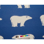 Roros Tweed - Isbjorn Polar Bear Wool Blanket, Blue/Natural - The Isbjorn is a youthful  Scandinavian design utilizing the polar bear motif.  This  throw will be an inviting addition to any living room, bedroom, or weekend retreat.
