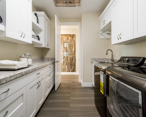 70+ Best Laundry Room with Laminate Floors and Beige Walls Ideas   Houzz