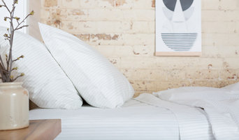 The Good Sheet Percale Duvet Cover in Pinstripe White